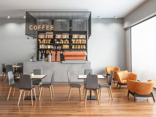 Empty Coffee shop:スマホ壁紙(壁紙.com)
