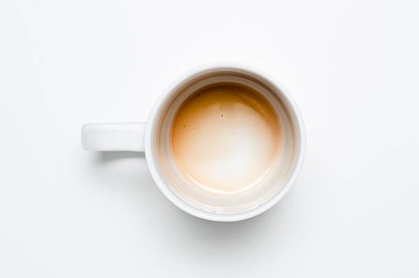 空のコーヒーカップ:スマホ壁紙(壁紙.com)