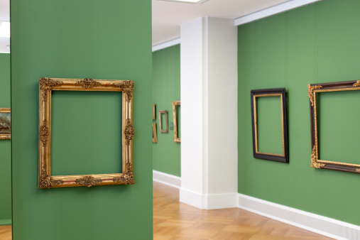 Green Background「golden vintage baroque frame 18th century - place your picture」:スマホ壁紙(13)