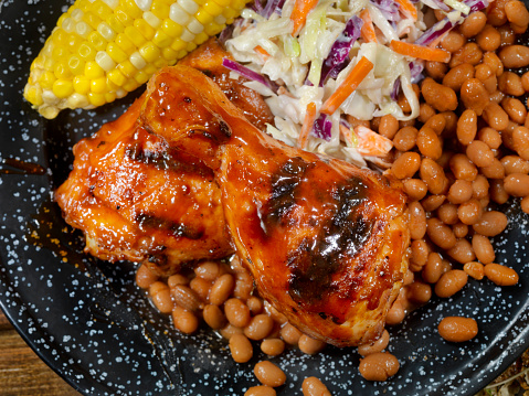 野菜「チキンのバーベキューの饗宴」:スマホ壁紙(12)