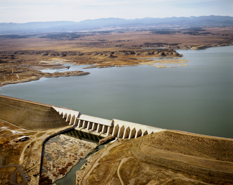 Arkansas River「Pueblo Reservoir and dam , Colorado」:スマホ壁紙(14)