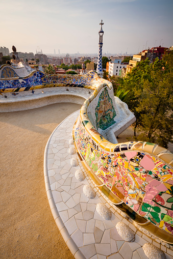 Barcelona - Spain「Park Guell at sunrise」:スマホ壁紙(17)