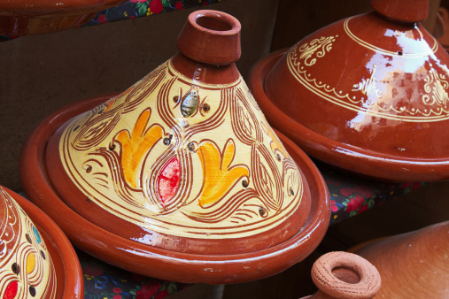 Fez - Morocco「Colorful Moroccan Cooking Pots (tagine)」:スマホ壁紙(4)