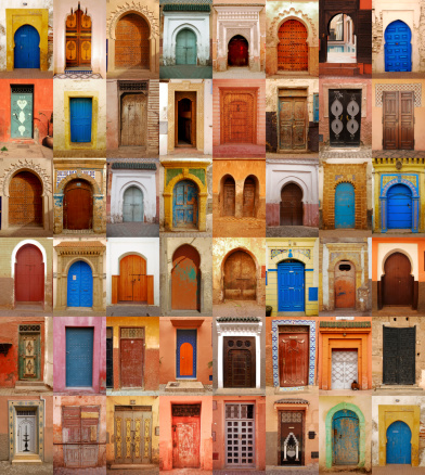 Morocco「Colorful Moroccan doors」:スマホ壁紙(8)
