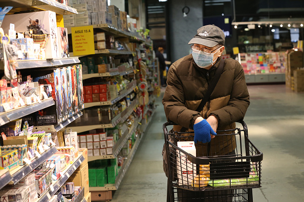 Supermarket「Coronavirus Pandemic Causes Climate Of Anxiety And Changing Routines In America」:写真・画像(6)[壁紙.com]
