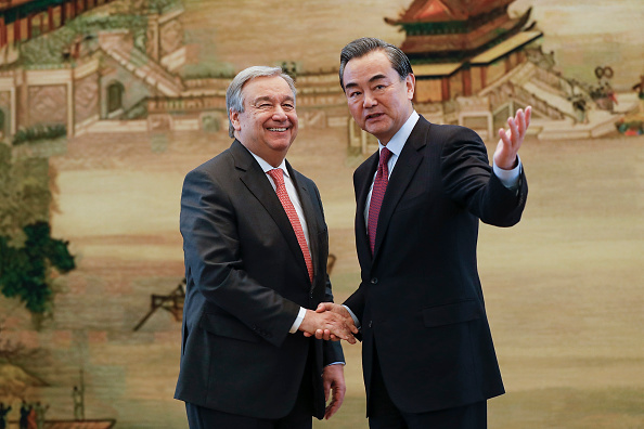 Politician「Joint Press Conference By UN Secretary General Designate Antonio Guterres & Chinese Foreign Minister」:写真・画像(13)[壁紙.com]