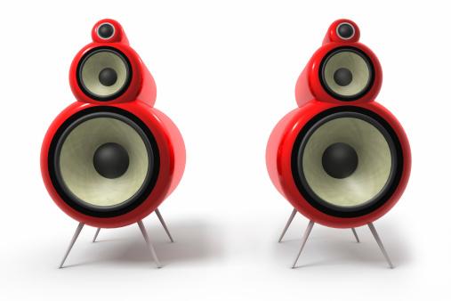 Nightclub「A graphic of two red tube loudspeakers」:スマホ壁紙(12)