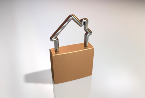 Security System「3D graphic of house shaped padlock」:スマホ壁紙(15)