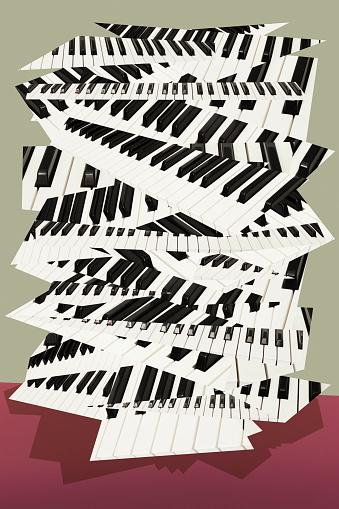Rhythm「Collaged Keyboard」:スマホ壁紙(12)