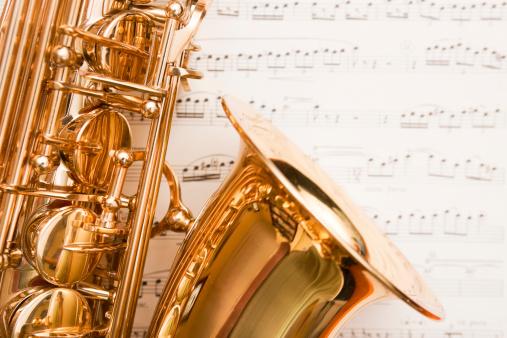 Rock Music「Dreamy saxophone on music」:スマホ壁紙(2)