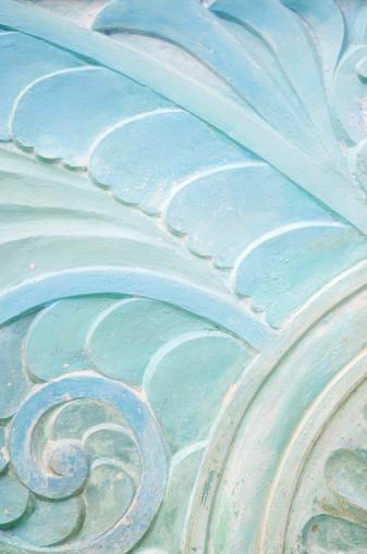 マイアミビーチ「ウェーブ石づくりのアールデコ調の模様のクローズアップ」:スマホ壁紙(10)