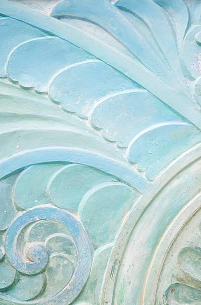 ウェーブ石づくりのアールデコ調の模様のクローズアップ:スマホ壁紙(壁紙.com)