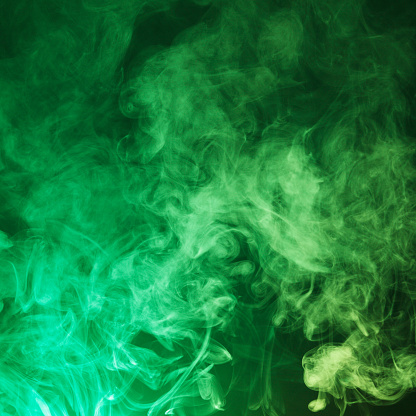 Saturated Color「Dark Green smoke cloud background」:スマホ壁紙(9)