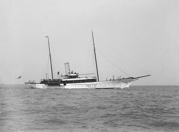 船・ヨット「The Steam Yacht Shemara Under Way」:写真・画像(10)[壁紙.com]