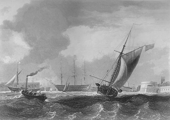 Overcast「Entrance to Portsmouth Harbour, 1859」:写真・画像(5)[壁紙.com]