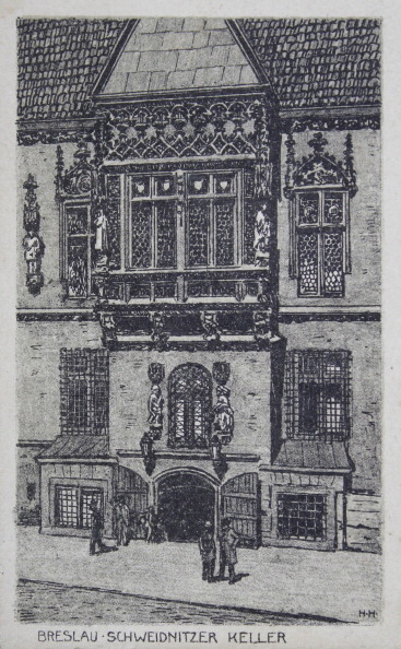 Architectural Feature「Entrance To The Cellar Schweidnitzer In Breslau. 1913. Lithography.」:写真・画像(16)[壁紙.com]