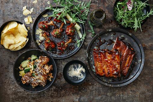 Chicken Wing「BBQ Lollipop Chicken Wings and Spicy Glazed Pork Ribs」:スマホ壁紙(0)