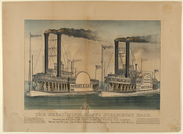 Passenger Craft「The Great Mississippi Steamboat Race-From New Orleans To St Louis」:写真・画像(9)[壁紙.com]