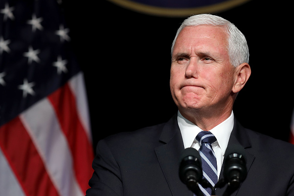 Mike Pence「VP Pence Delivers Remarks On Military In Space During Visit To The Pentagon」:写真・画像(1)[壁紙.com]