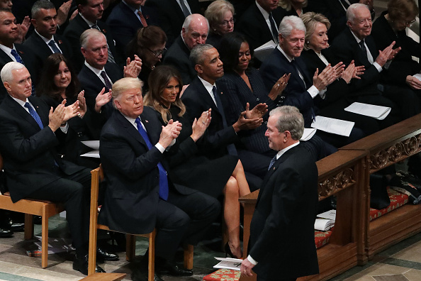 Chip Somodevilla「State Funeral Held For George H.W. Bush At The Washington National Cathedral」:写真・画像(19)[壁紙.com]