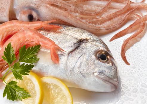 ガラス「Seafood」:スマホ壁紙(4)
