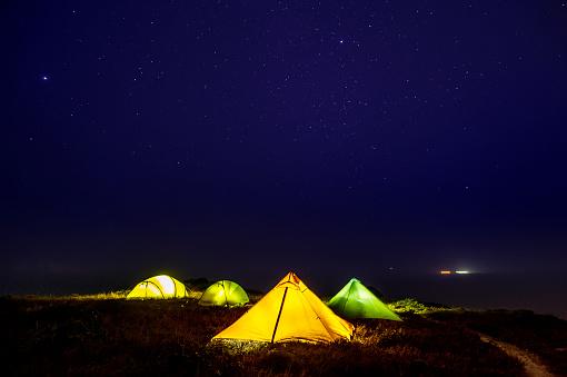 Tent「Internally illuminated camping tents at night」:スマホ壁紙(3)