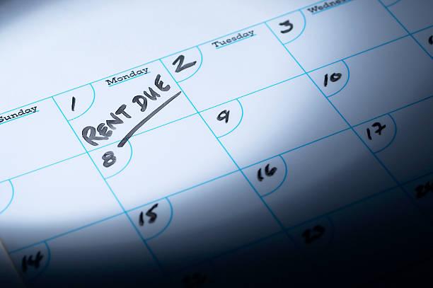 Rent due reminder on calendar:スマホ壁紙(壁紙.com)