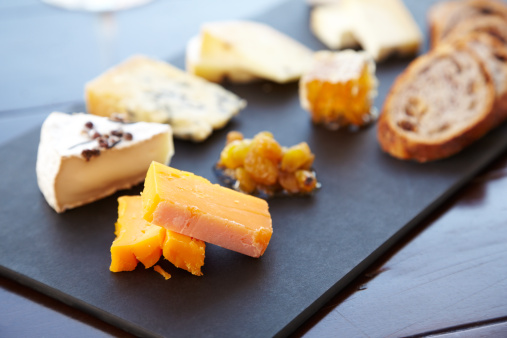 Cheese Board「Fancy cheese plate with bread and honey」:スマホ壁紙(8)