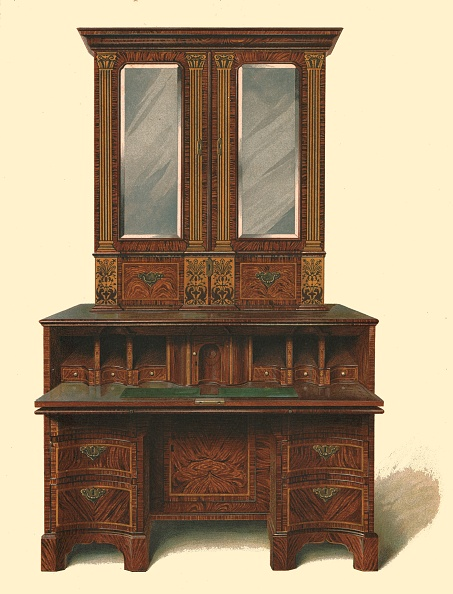 ナッツ類「Walnut Inlaid Writing Cabinet」:写真・画像(16)[壁紙.com]