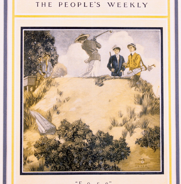 Sand Trap「'Fore!, cover of The People's Weekly, early 20th century.」:写真・画像(17)[壁紙.com]
