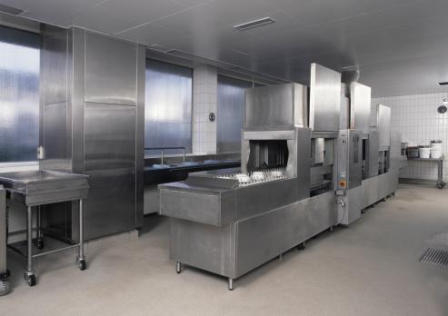 Dishwasher「Empty clean industrial kitchen dishwasher」:スマホ壁紙(8)