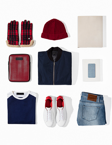 Cut Out「Men's clothing with personal accesorries isolated on white background」:スマホ壁紙(13)