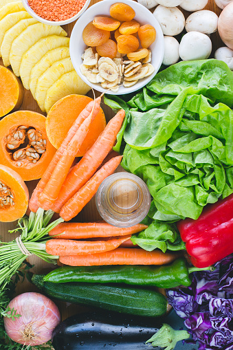 杏「Fresh fruit and vegetables」:スマホ壁紙(18)