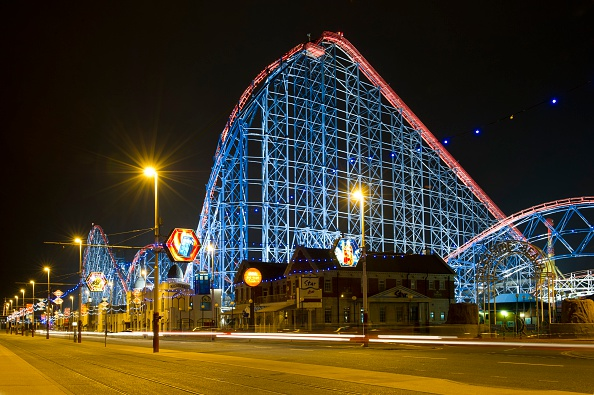 Rollercoaster「Roller Coaster, Blackpool Pleasure Beach, Lancashire, 2010」:写真・画像(11)[壁紙.com]