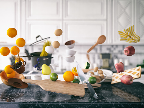 Cooking Utensil「Zero Gravity in Kitchen」:スマホ壁紙(9)
