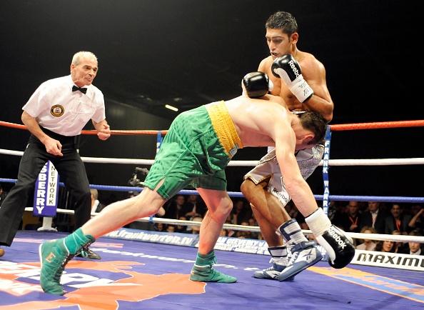 Blank「Amir Khan v Oisin Fagan boxing at Excel in London 2008」:写真・画像(12)[壁紙.com]