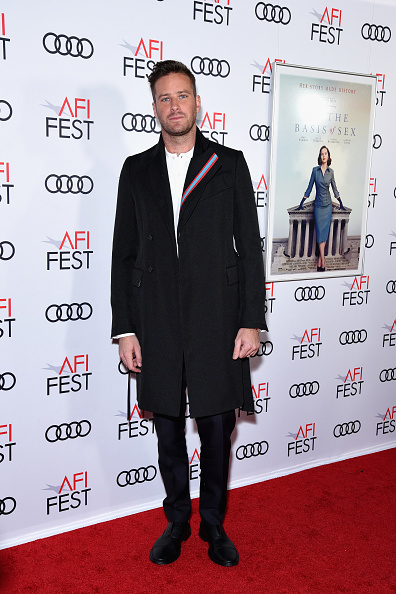 Armie Hammer「AFI FEST 2018 Presented By Audi - Opening Night World Premiere Gala Screening Of 'On The Basis Of Sex' - Arrivals」:写真・画像(18)[壁紙.com]