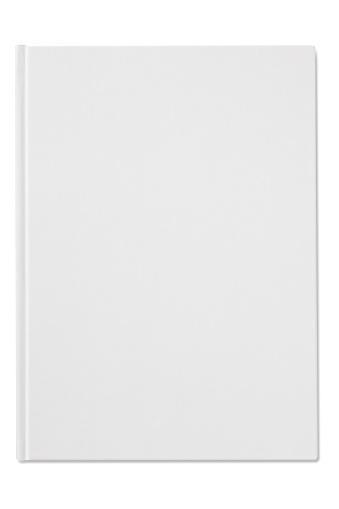 Book Cover「Plain blank white notebook isolated on a white background」:スマホ壁紙(2)