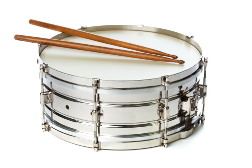 Snare Drum「Silver Snare Tin Drum with Sticks」:スマホ壁紙(4)