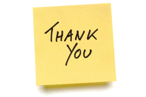 Adhesive Note「Yellow Thank You post-it note」:スマホ壁紙(10)
