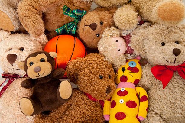 Stuffed Animals Background:スマホ壁紙(壁紙.com)