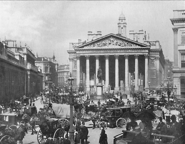City Life「A Busy Corner - The Royal Exchange And Bank Of England」:写真・画像(14)[壁紙.com]