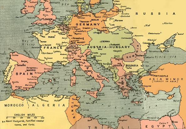 Map「Central Europe And The Mediterranean」:写真・画像(4)[壁紙.com]