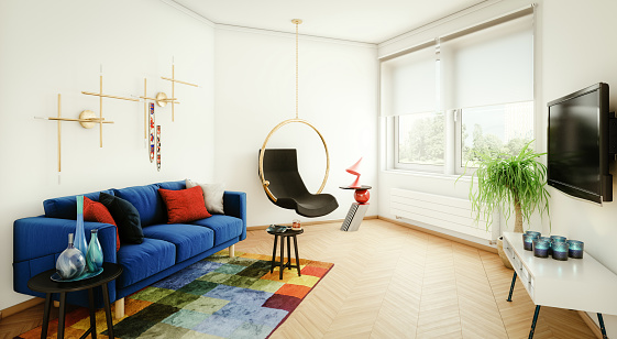High Definition Television - Television Set「Modern and Cozy Living Room」:スマホ壁紙(12)