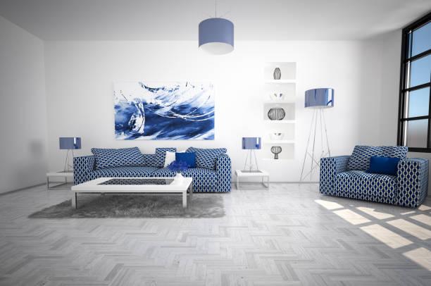 Modern and Cozy Living Room Interior:スマホ壁紙(壁紙.com)