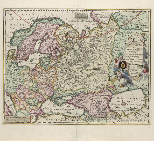 Netherlands「Map of Russia, Second Half of the 17th century」:写真・画像(1)[壁紙.com]