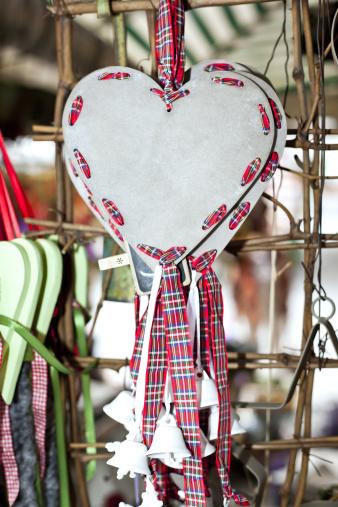 Tartan check「hearts」:スマホ壁紙(15)