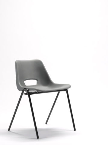 Chair「Grey plastic stacking chair with copy space」:スマホ壁紙(17)