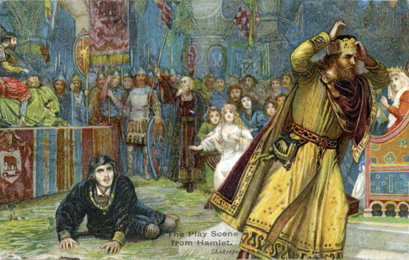 Illustration「Claudius flees a play re-enacting King Hamlet's murder」:写真・画像(1)[壁紙.com]