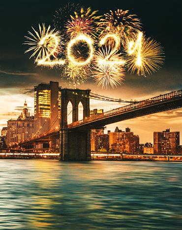 New Year「new year's eve fireworks in manhattan」:スマホ壁紙(17)